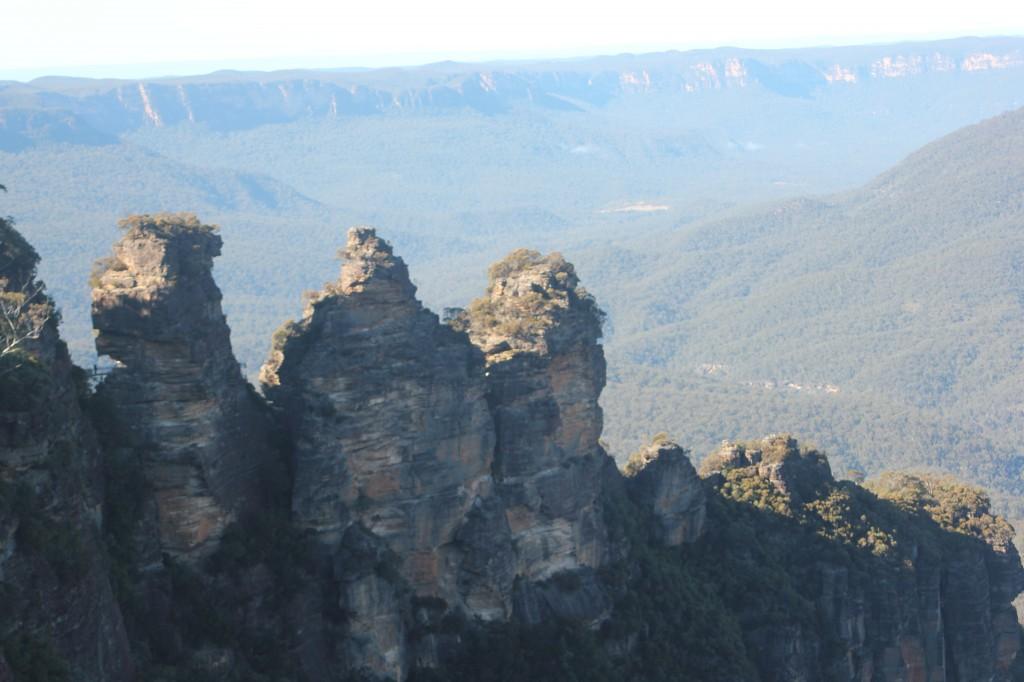 Het bekende plaatje van de Three Sisters.