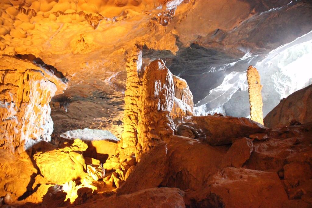 Een deel van het grottencomplex